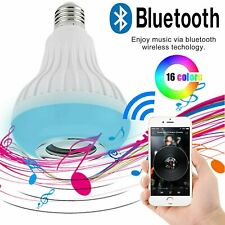 E27 12W Lamp Smart LED Light Bulb Bluetooth RGB Colour Music Speaker With Remote