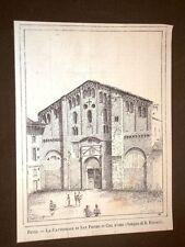 Pavia nel 1886 La Cattedrale di San Pietro in Ciel d'oro Disegno di R.Ferrari