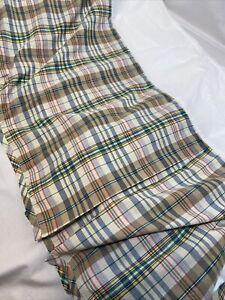 Ralph Lauren Boathouse Madras Plaid Queen Bed Skirt