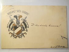 München - Wingolf sei's Panier - um 1900 - Farbschild / Studentika