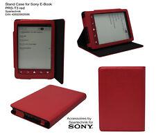 Etui pour Sony PRS-T3 sacoche de transport cuir synth. PRS T3 avec bâti - rouge