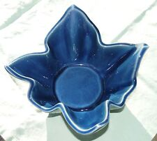 JAPAN Vintage Dish Bowl Envelope Design Art Colbalt Blue Rare Decor Stunning