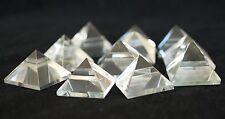 Reiki Energía cargado brasileño Transparente Cuarzo Pirámide Natural Crystal (pequeño)