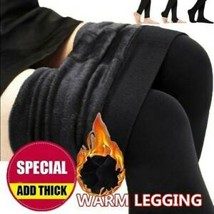 Women Winter Thermal Thick Warm Fleece Lined Stretch Pants Sexy Slim Leggings