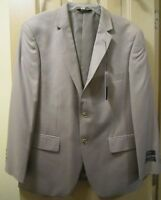 NEW SZ 40S ANGELO ROSSI MENS 2 BTN TAUPE WHITE STRIPE SUIT JACKET BLAZER , NWTS