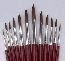 Les cheveux fins pinceau ensemble x 6 tailles 0, 00, 000 pour modèle / figure peinture-Tasma