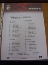 28/03/2010 Colour Teamsheet: Liverpool v Sunderland  . Thanks for viewing our it