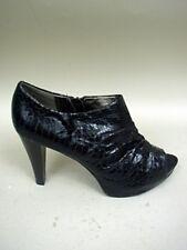 Worthington Black Faux Snake Platform Booties - Size 7 1/2