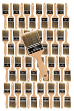 """48PK 2.5"""" Flat House Wall,Trim Paint Brush Set Home Exterior or Interior Brushes"""