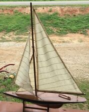 """Classic Yacht,23""""Hx17.5""""Lx3""""W Large Model Wooden Ship/Handcrafted/decrative 1500"""