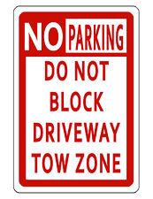 NO PARKING SIGN DURABLE ALUMINUM NO RUST FULL COLOR CUSTOM METAL SIGN TOW ZONE