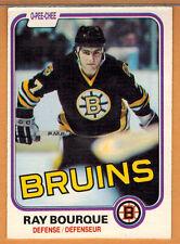 1981-82 , OPC , O-PEE-CHEE , RAY BOURQUE , CARD #1