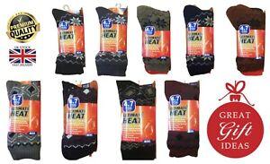 New Ultimate Heat Men's Women's Fair Isle Sherpa Lined Warm 4.7 Tog Socks