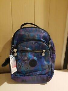 """New Kipling KI0899 Seoul Go Small Backpack 11"""" Nylon Frozen 2 Mystical Adventure"""
