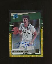 2020-21 Donruss Black Gold Jordan Nwora RC Rookie AUTO 4/8 Milwaukee Bucks