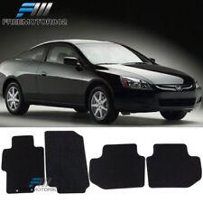 For 03-07 Honda Accord 2 4Dr Black Nylon Floor Mats Carpets 4PC