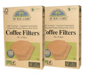 *2 Boxes* If You Care - Coffee Filters No.2 Cone Brown - 100 Count Each