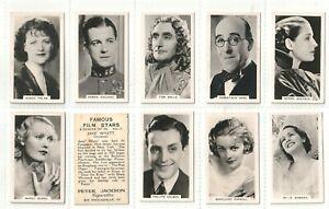 Peter Jackson 1935 Set 28  Famous Film Stars B/W photos Hollywood M5 Fem20 (F64)