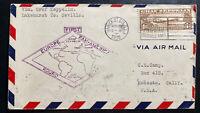 1930 USA Graf Zeppelin LZ 127 First Flight cover To Sevilla Spain Sc#C14 CV$375