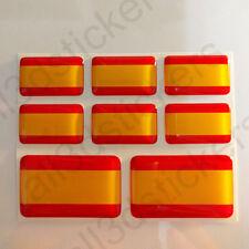 Autocollant Espagne Drapeau 3D Résine Adhésif Relief Autocollants Espagne -