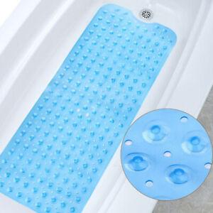 100x40cm Bath Shower Mat Extra Large Kid Anti Non Slip Rubber Sucker Bathtub AU