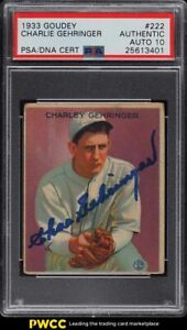 1933 Goudey Charlie Gehringer PSA/DNA 10 AUTO #222 PSA AUTH