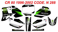 N 288 HONDA CR 80 1996-2002 Autocollants Déco Graphics Decals Stickers Kit