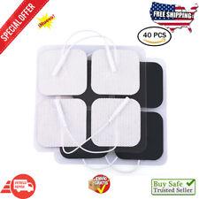 40 Pads De Electrodos TENS EMS KIT Para Universal Massager Electrónico Del Pulso