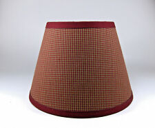 Red lamp shades ebay country primitive burgundy mini check homespun fabric lampshade lamp shade aloadofball Image collections