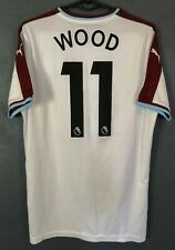 MENS FC BURNLEY 2018/2019 CHRIS WOOD SOCCER FOOTBALL SHIRT JERSEY MAILLOT SIZE S