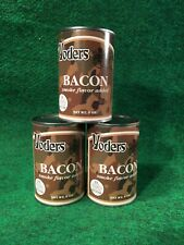 3 Cans Of Yoders Bacon 9 oz Ready to Eat Camping Survival Food Long Term Storage