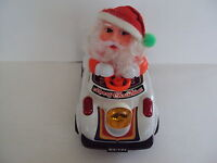 Vintage Santa Claus Electronic Animated Musical Bumper Car Toy Christmas