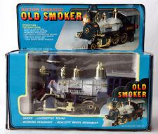 "RARE VINTAGE 90'S TRAIN OLD SMOKER 12"" LOCOMOTIVE LOCO BATTERY CHINA NEW MIB !"