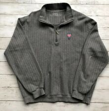 Carnoustie Men's Size M Gray 1/4 Zip Pullover Golf Sweater Cotton