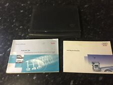 Audi A4 S4 Owners Manual Service History Schedule Leather Folder