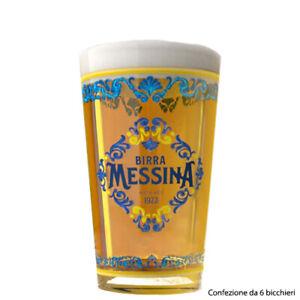 Bicchiere Birra Messina - 6 bicchieri da 0,4 glass glasses made in italy