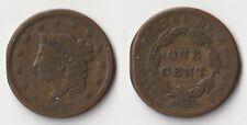 1837 U.S. Coronet 1 cent coin