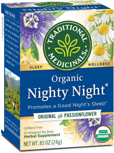 Traditional Medicinals Organic Nighty Night Tea Relaxation Tea, 16 Tea Bags (Pac