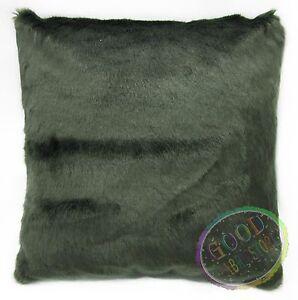 Fm849a Olive Green Plain Long Faux Fur Cushion Cover/Pillow Case*Custom Size