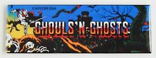 Ghouls N Ghosts Marquee FRIDGE MAGNET (1.5 x 4.5 inches) arcade video game