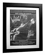 WAYSTED+Vices+UFO+PETE WAY+POSTER+AD+RARE ORIGINAL 1983+FRAMED+FAST GLOBAL SHIP