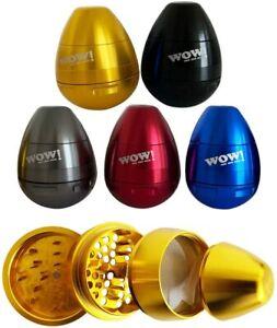 WOW Egg Shaped Large 4 Piece Grinder Aluminium Best Herb Grinder Highest Quality