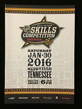 2016 NHL ALL STAR GAME SKILLS COMPETITION PROGRAM - NASHVILLE PREDATORS NEW