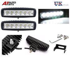 2 Pcs 18W 6 LED Work Light Driving Lamp 12V 24V Offroad car boat Truck Bike Van