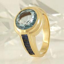 Echtschmuck-Ringe im Solitär mit Akzentsetzung-Stil aus Gelbgold für Damen