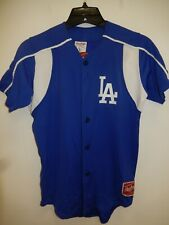 0213 Boys Youth LOS ANGELES DODGERS Full Buttondown Baseball JERSEY New BLUE/WHT