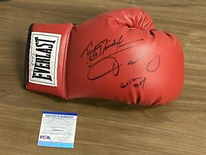 OSCAR DE LA HOYA & FELIX TRINIDAD Everlast Boxing Glove Auto Autograph PSA/DNA