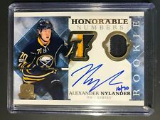 2017-18 Upper Deck The Cup Alexander Nylander Honorable Numbers Rookie Auto /70