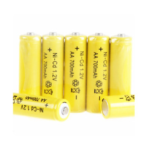 3x AA Size Ni-Cd 700 mAh 1.2V Rechargeable Batteries NiCd Nickel Cadmium Battery