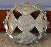 Antique Victorian Silver Gilt brooch Albo Silver Co 3.5 cm's 9 grams gothic